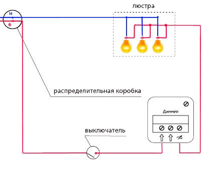 Схема установки и подключения диммера СПб