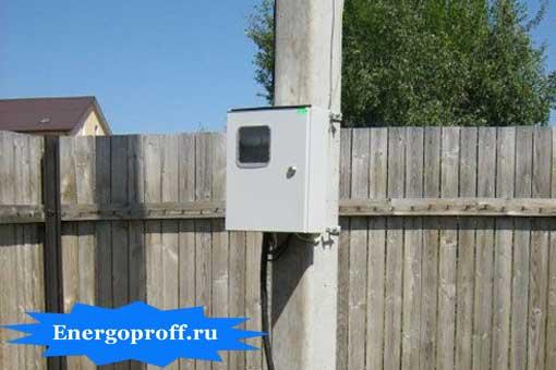 Сборка и монтаж электрощитков на столб, на даче в Санкт-Петербурге СПб