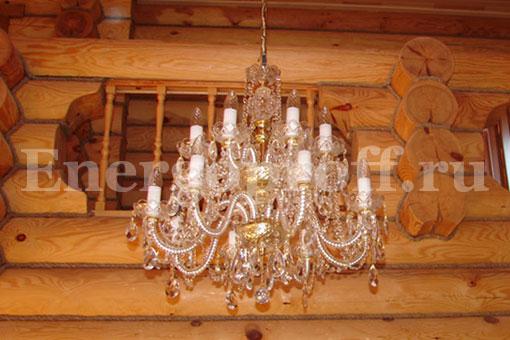 Сборка и подключение люстры на натяжной потолок СПб