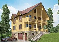 двухэтажный дом (коттедж)