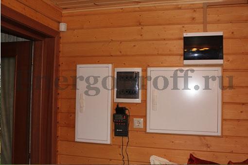 Монтаж электропроводки в деревянном или кирпичном коттедже СПб