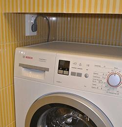Установка розеток для стиральной машины в СПб